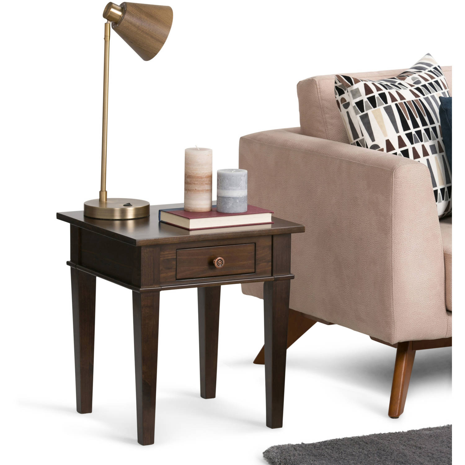 Brooklyn + Max Richland Collection Dark Tobacco Brown End Table
