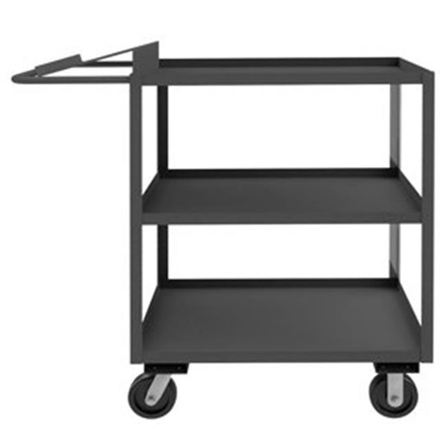 Durham OPC-304848-3-6PH-95 51 in. Order Picking Cart, Gray - 3000 lbs