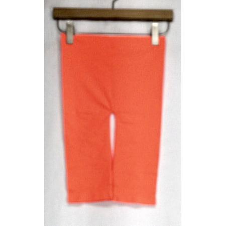 Stretch Knit Crop - MOPAS Leggings One Size Stretch Knit Cropped Seamless & Slimming Orange