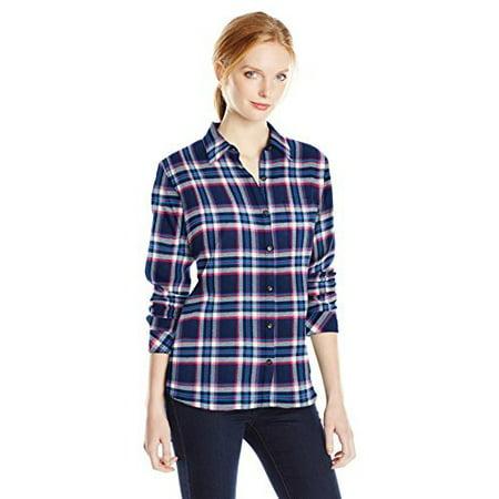 a9eafe6aa40 Dickies - Women s Long Sleeve Plaid Flannel Shirt - Walmart.com