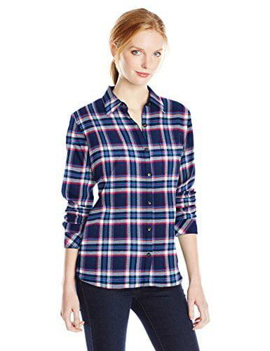 Women's Long Sleeve Plaid Flannel Shirt