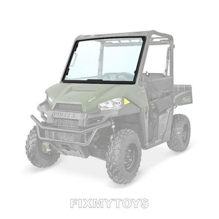 Oem Glass Windshield - OEM Lock Ride Glass Tip-Out Windshield 2015- 2019 Polaris Ranger 500 570 Crew 570-4 EV LI-ION 2881784
