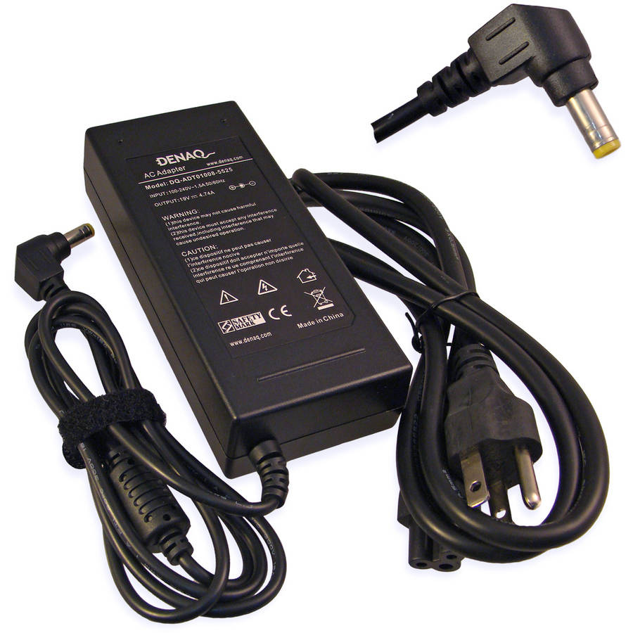 DENAQ 19-Volt 4.74-Amp 5.5mm-2.5mm AC Adapter for Acer Aspire, AccelNote, TravelMate and Ferrari Series Laptops