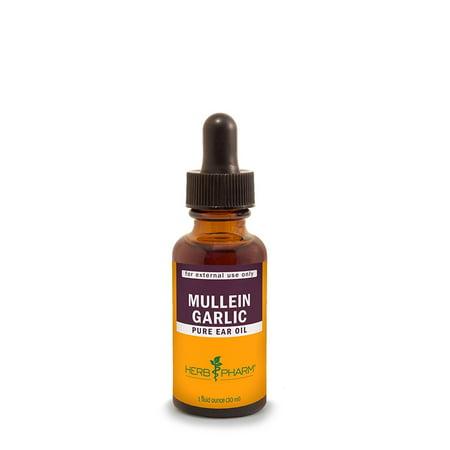 Herb Pharm Mullein/Garlic Herbal Ear Drop Oil - 1 Ounce Mullein Garlic Ear Oil