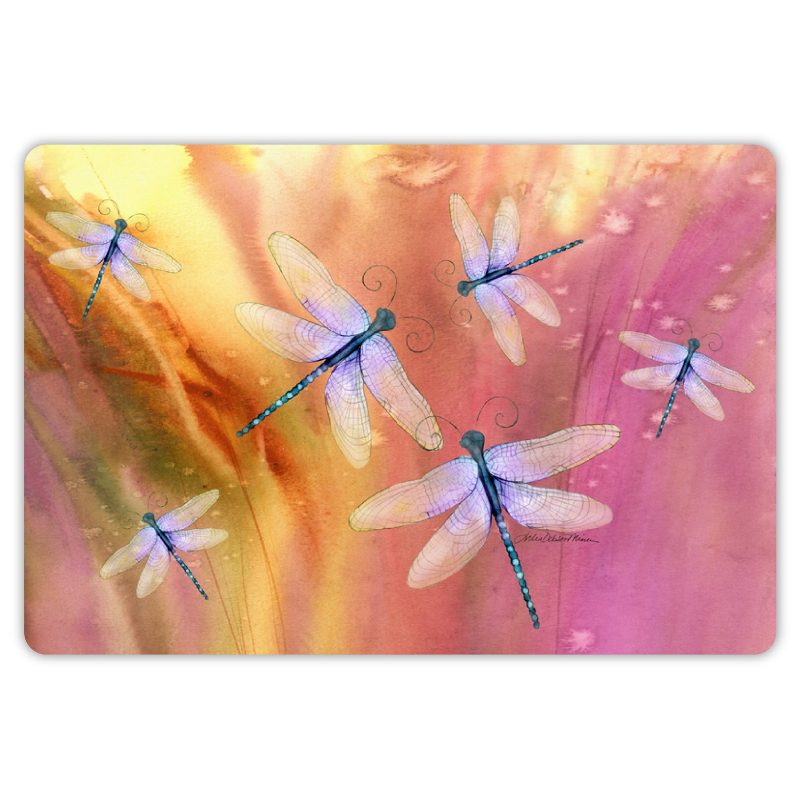 Drymate Spring/Summer Collection Welcome Mat - Dragonflies