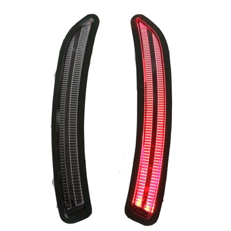 Helix Mini Cooper F55 F56 F57 Front LED Side Marker Lights - Clear/Black/Red
