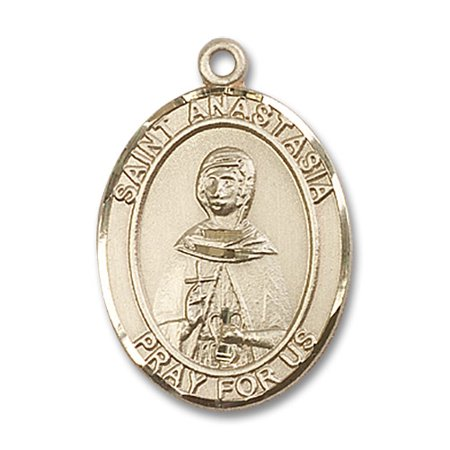 14kt Yellow Gold St. Anastasia Medal 1 x 3/4 inches