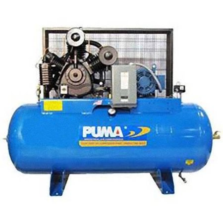 Puma Industries Air Compressor  Tuk 100120M1  Professional Commercial Industrial Two Stage Belt Drive Series  10 Hp Running  175 Max Psi  230 1 Voltage Phase  120 Gallons  1020 Lbs