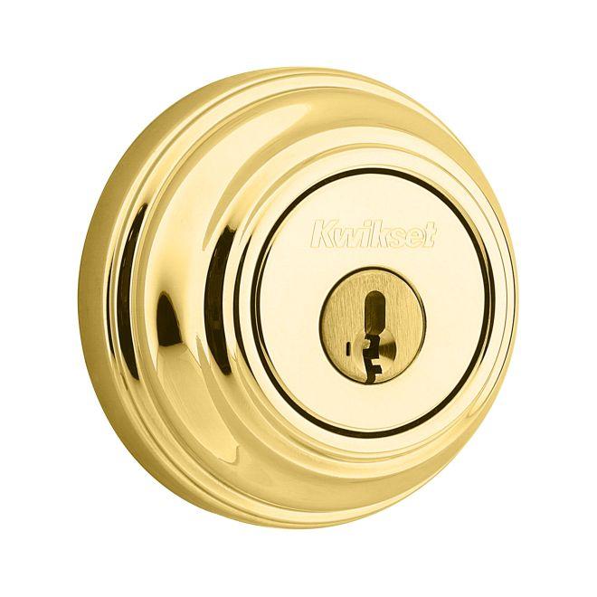 Kwikset 985-L03S Double Cylinder Deadbolt Smart Key Lifetime Brass Finish