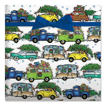 Christmas Vacation Jumbo Rolled Gift Wrap - 1 Giant Roll, 23 Inches Wide by 35 feet Long, Heavyweight, Tear-Resistant, Holiday Wrapping Paper ()