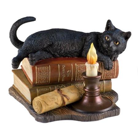 Veronese Design WU76992VA The Witching Hour Black Cat Sculpture