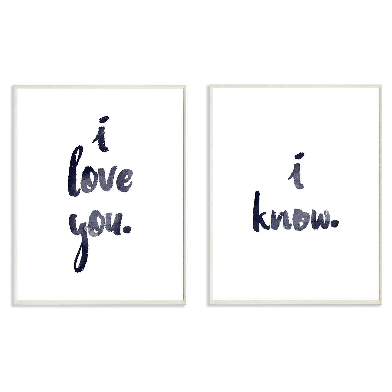 The Stupell Home Decor Collection 2 Piece I Love You I Know Glam Wall Plaque by Stupell Industries Ltd