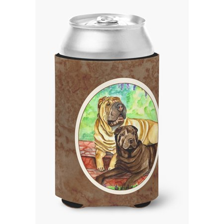 Shar Pei Fawn and Chocolate Can or Bottle Hugger