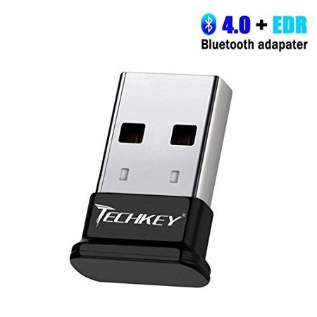 usb bluetooth dongle bluetooth adapter for pc 4 0 edr receiver techkey  wireless transfer for stereo headphones laptop windows 10 / 8 1 / 8 / 7 /
