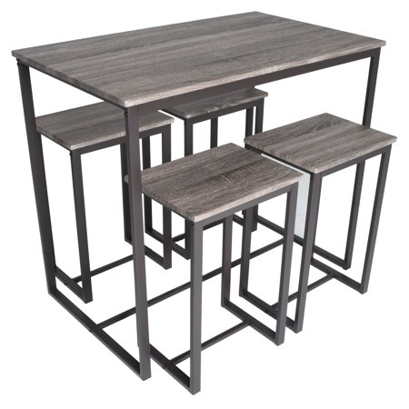 Zenvida 5 Piece Bistro / Pub Table Set With 4 Stools ()