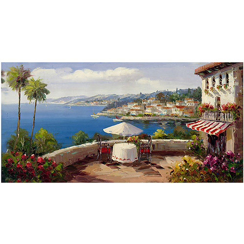 "Trademark Fine Art ""Italian Afternoon"" Canvas Wall Art by Rio"