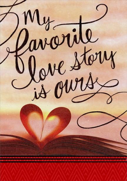 designer greetings favorite love story husband valentine