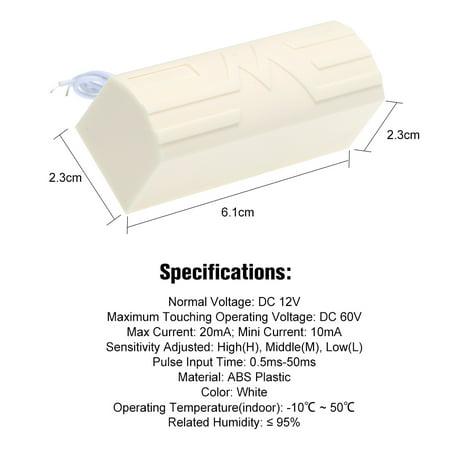 Wired Vibration Sensor Intelligent Digital Outdoor Vibration Shock Sensor for Hardwire Horm Alarm System - image 3 of 7
