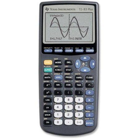 """Texas Instruments TI83 Plus Graphing Calculator 8 Line(s) 16 Digit(s) LCD Battery Powered 7.3"""" x... by"""