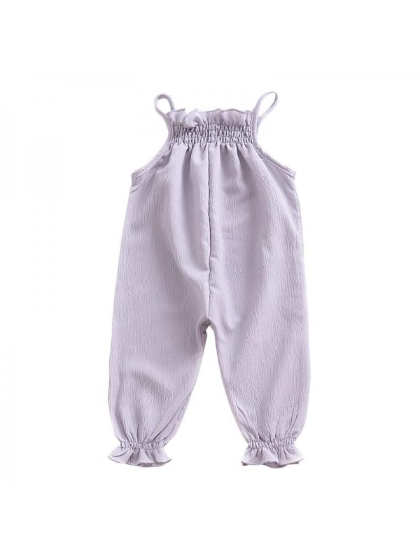 Lavaport Summer Baby Girls Romper Jumpsuit Elastic Lace Harness Kids Clothing