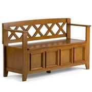 Simpli Home Amherst Entryway Storage Bench