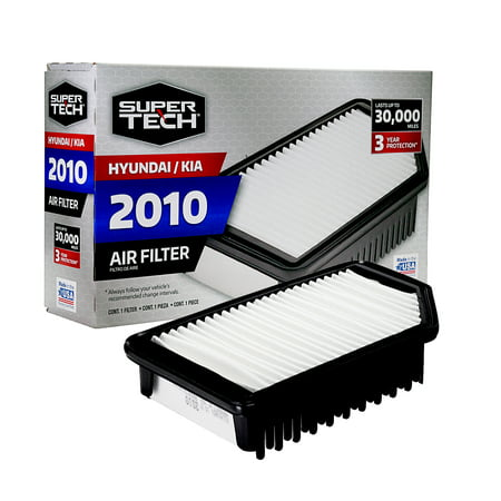 SuperTech 2010 Engine Air Filter, Replacement Filter for Hyundai / Kia ()