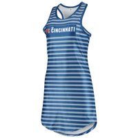 FC Cincinnati ZooZatz Women's Striped Tank Dress - Blue