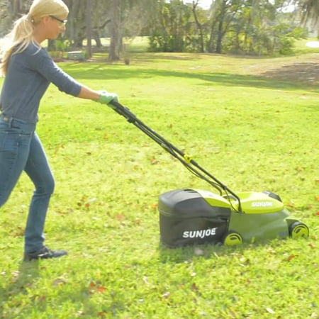 Sun Joe MJ401C 28-Volt 14-Inch Cordless Lawn Mower, Green