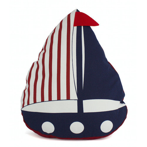 Handcrafted Nautical Decor American Sailboat Nautical Decorative Throw Pillow