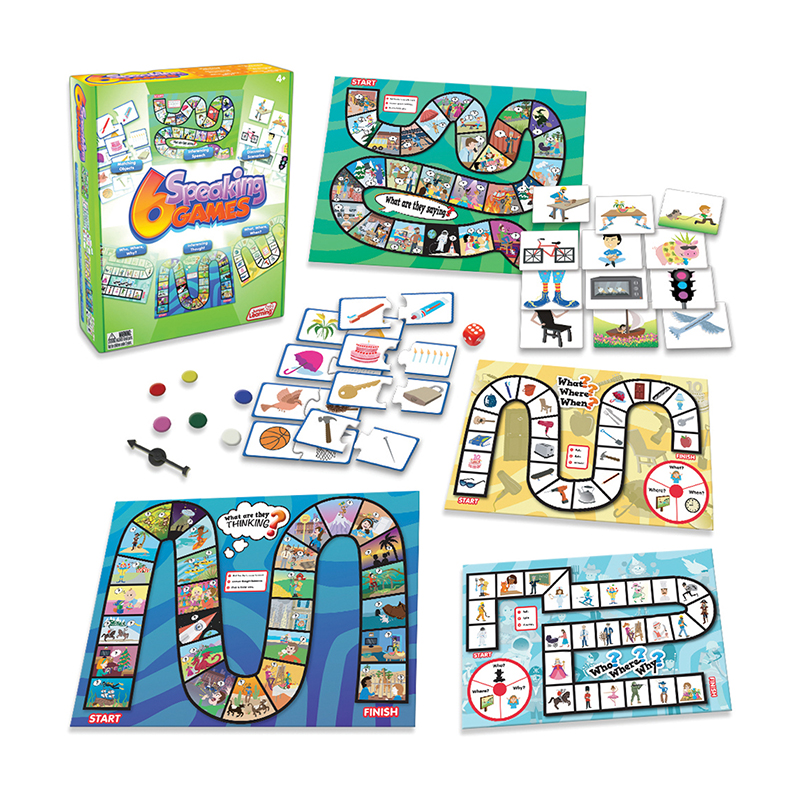 Junior Learning Speaking Games, Set of 6 Different Games