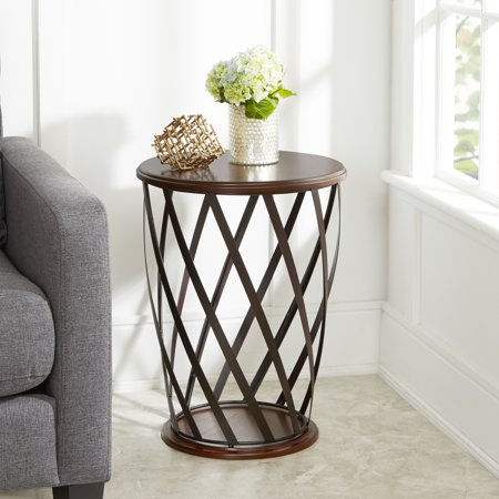 Better Homes & Gardens Industrial Cage Metal and Wood Accent