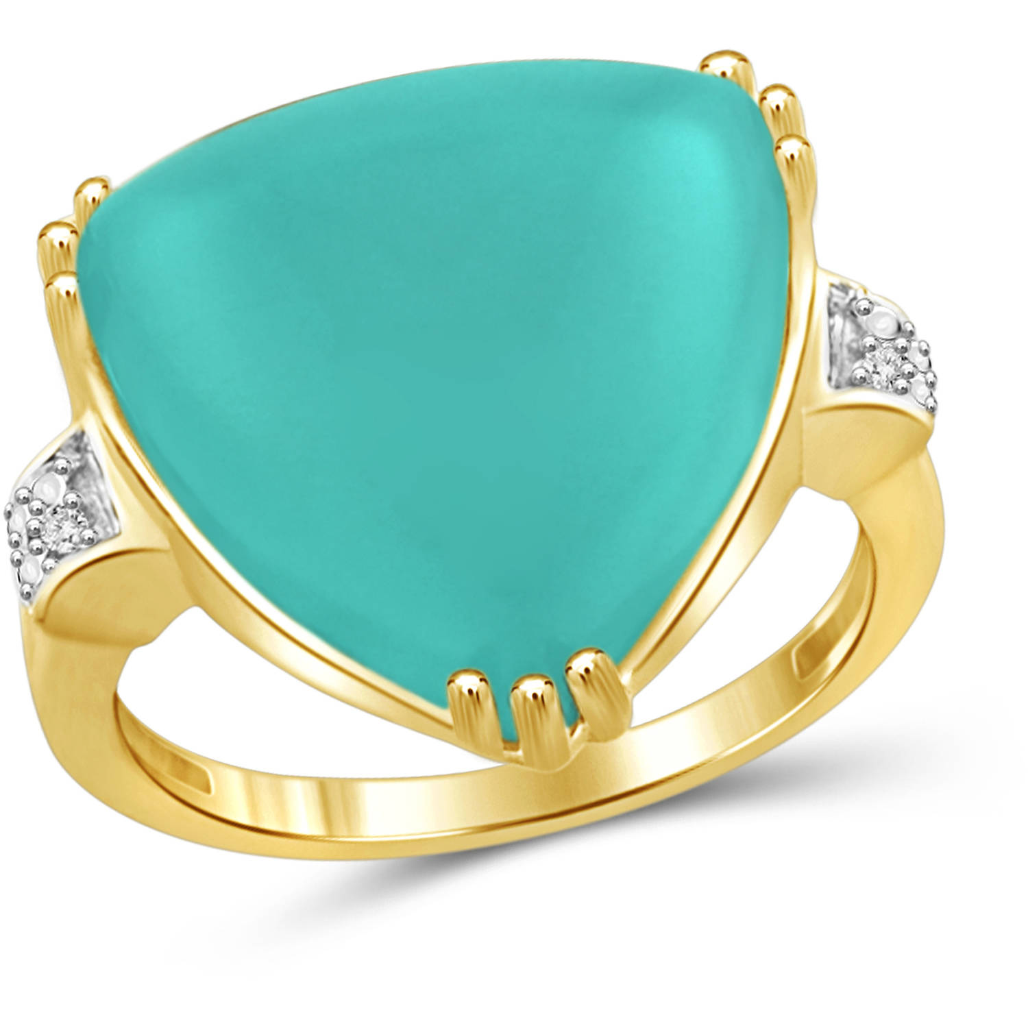 JewelersClub 13-3 4 Carat T.G.W. Chalcedony and White Diamond Accent 14kt Gold over Silver Fashion Ring by JewelersClub