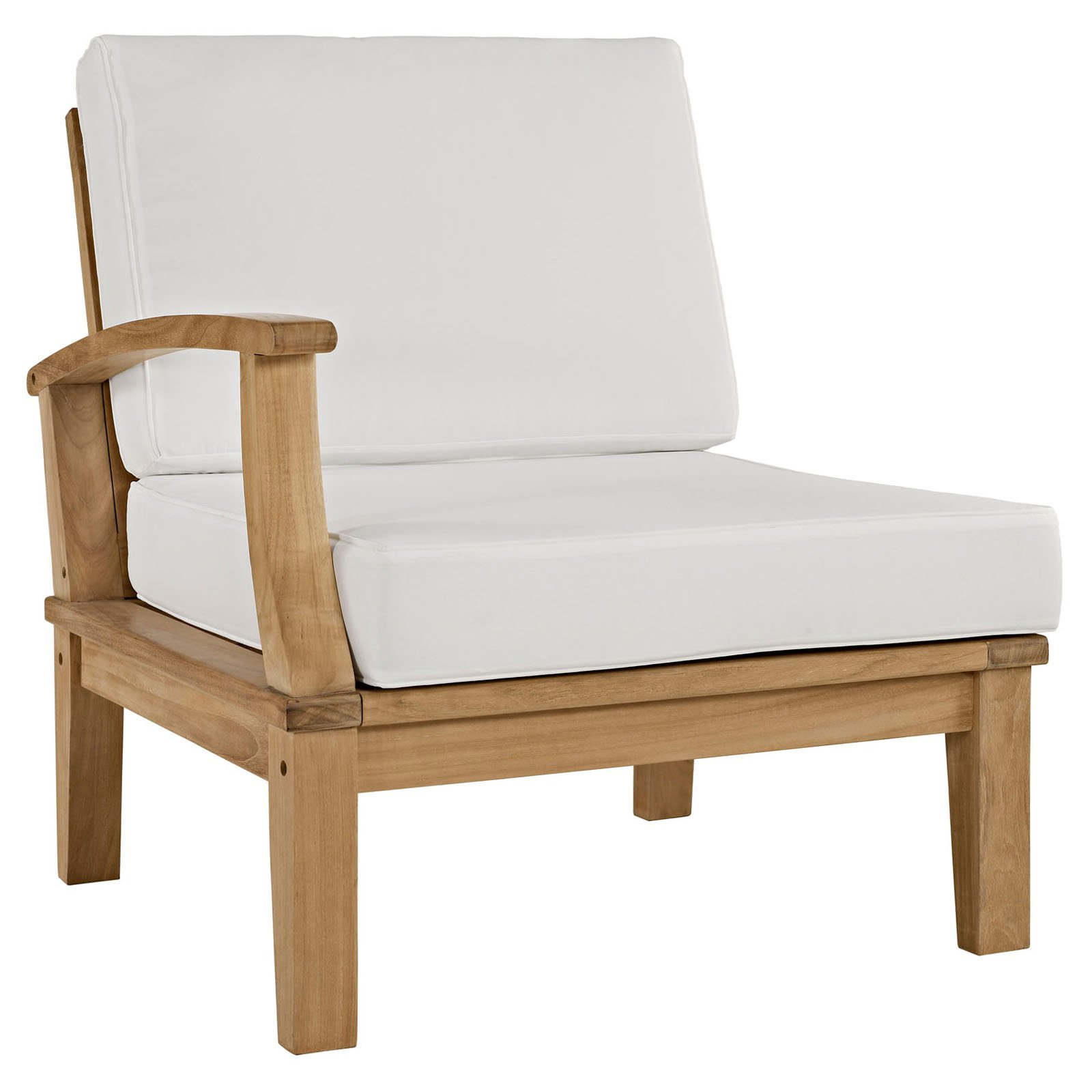 Outdoor Patio Right Arm Sofa in White