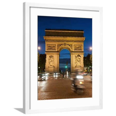 Arc Ski (Traffic around Arc De Triomphe, Avenue Des Champs Elysees, Paris, France, Europe Framed Print Wall Art By Richard Nebesky)