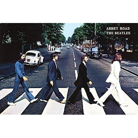 The Beatles Abbey Road 1969 36x24 Music Art Poster Crossing the Street in England