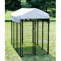 """KennelMaster Black Welded Wire Dog Kennel, 72""""L x 48""""W x 72""""H"""