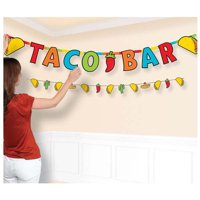 Fiesta Taco Bar Jumbo Letter Banner Kit (1ct)