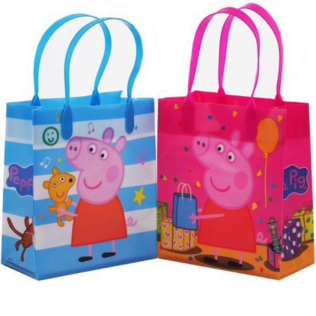 Peppa Pig Celebration 12 Party Favors Small Goodie Gift Bags - Peppa Pig Party Theme