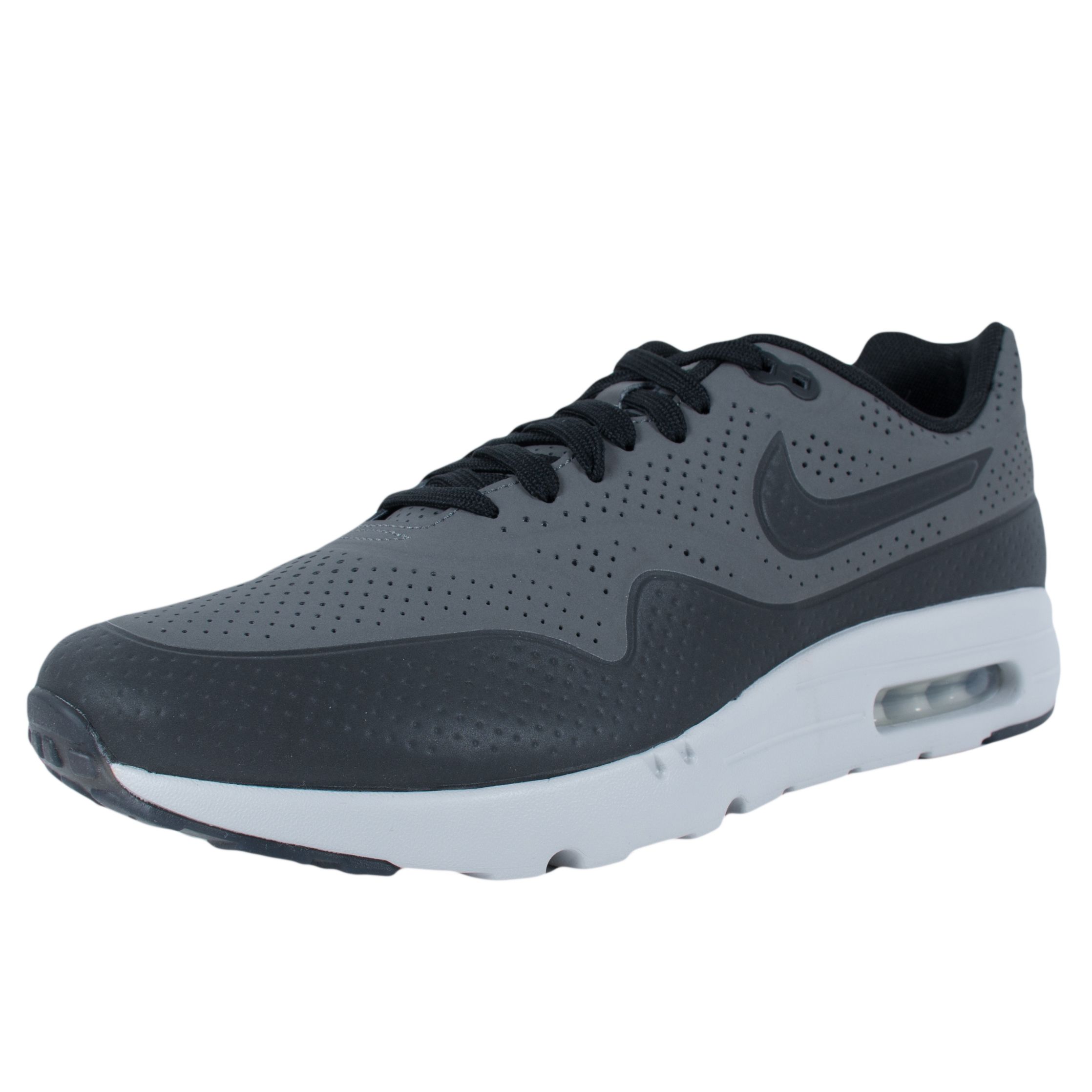 Nike AIR MAX 1 ULTRA MOIRE RUNNING SHOES DARK GREY BLACK ...