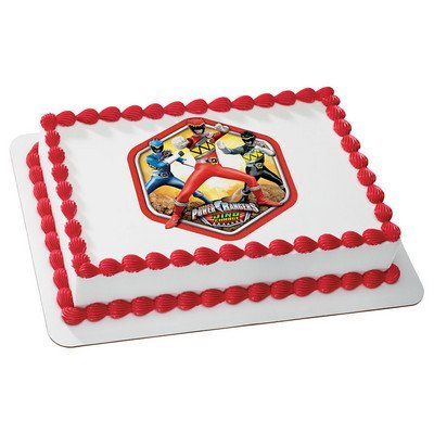 7.5 Inch Round - Power Rangers - Edible Cake or Cupcake Topper - Power Ranger Cakes