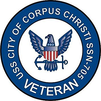 US Navy USS City of Corpus Christi SSN-705 Ship Veteran Decal Sticker 3.8