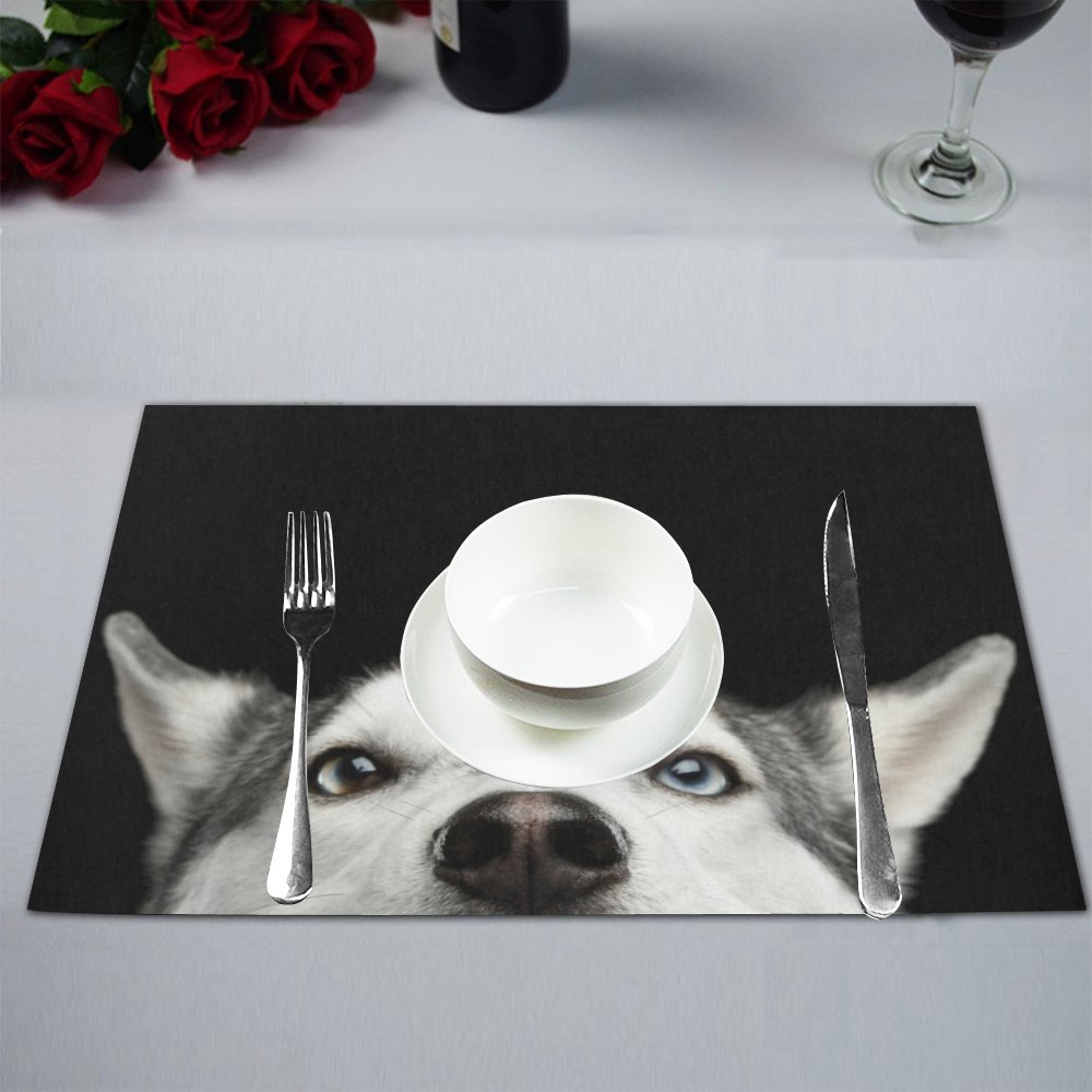 Siberian Husky Personalised Dinner Table Placemat