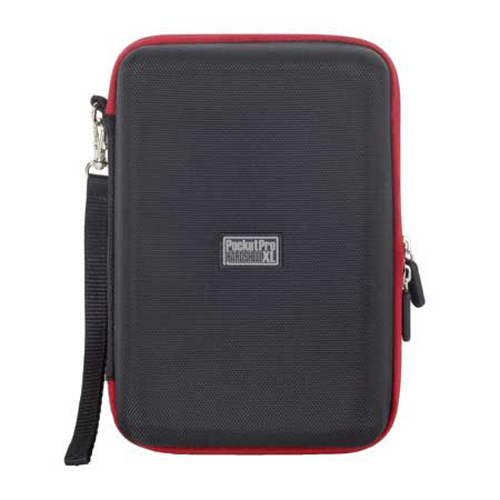 PC Treasure 08749 Pocket Pro Hardshell XL Universal Case, Black/Red