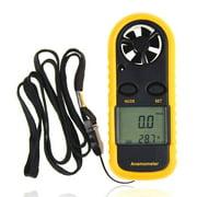 Digital Anemometer Wind-Speed Gauge Meter LCD Handheld Airflow Windmeter Thermometer