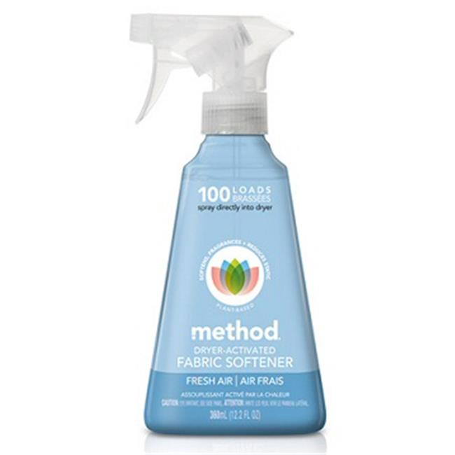 Method 01250 AIR Dryer-Activated Fabric Softener 12. 2oz. Spray Bottle - Fresh Air Scent Pack Of 6