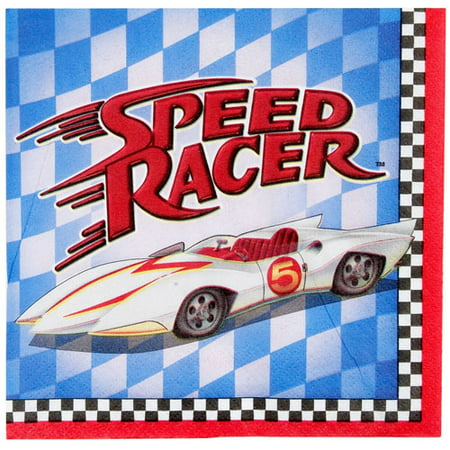 Speed Racer Cartoon Small Napkins (16ct)