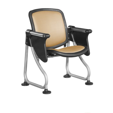 K212T-PEACH-SLV Office furniture ReadyLink Series steel tube scratch Proof Row Starter PEACH SILVER Chair with swivel Tablet (Starter Furniture)
