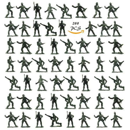 Kidsco Army Toy Soldiers Action Figures - Assorted -288 Pack Deluxe - For Children, Boys, Girls, GI Joes, Parties, Gifts, Party - Deluxe Gi Joe
