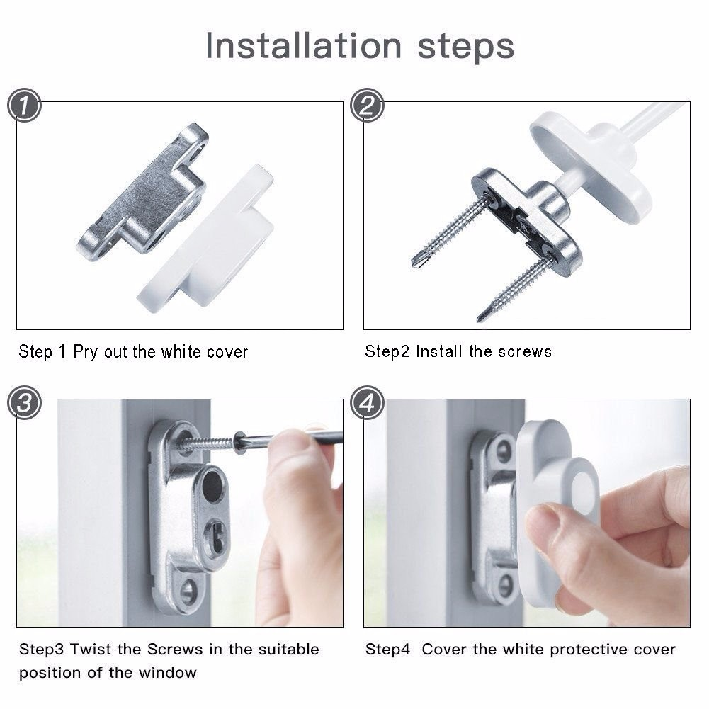 ESYNIC 2pcs Window Door Restrictor Lock Cable Child Baby Safety ...
