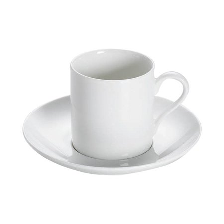 White Porcelain Sauce (Maxwell and Williams White Basics Porcelain Demi Cup and Saucer - 4oz )